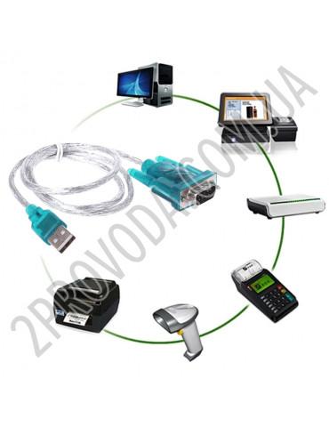 Кабель переходник USB к RS232 (Com) порт