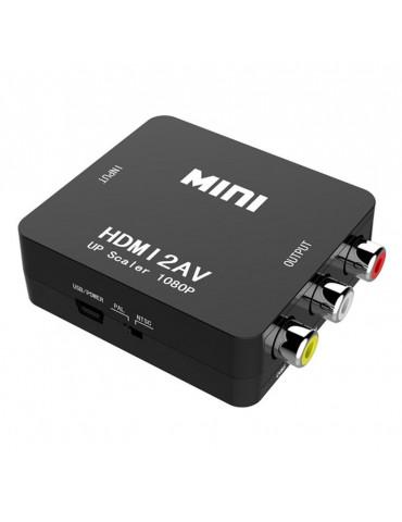 Переходник с HDMI на AV RCA (тюльпан) адаптер