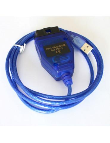 Автосканер USB KKL VAG-COM 409.1 чип FTDI диагностический адаптер