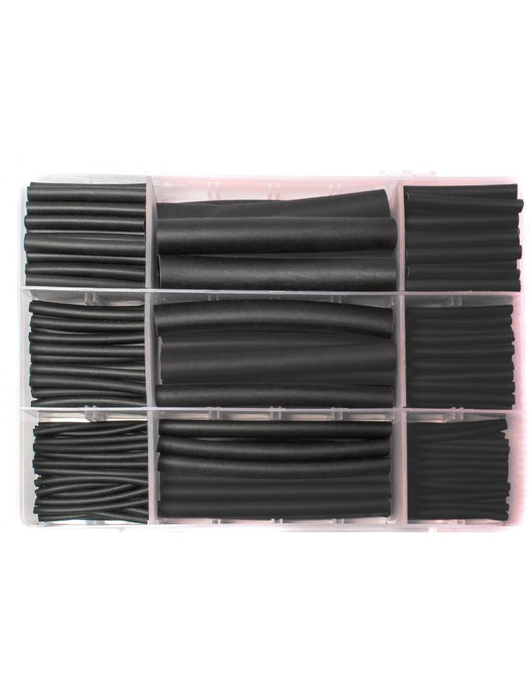 Набор термоусадки с клеем 270 шт. черная